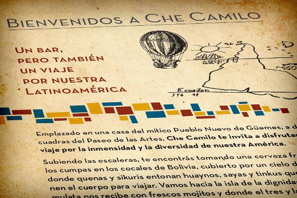 Che Camilo • Diseño de carta de menú